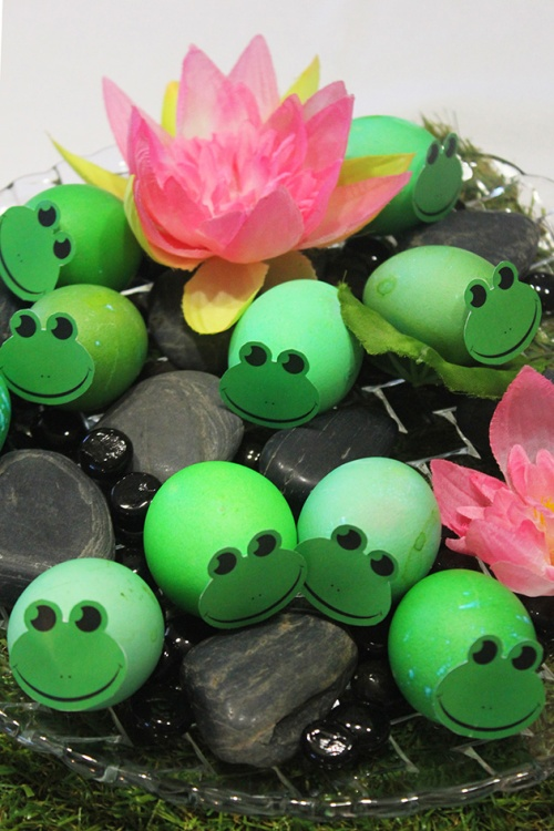 Frogs as Easter eggs | marmite et ponpon