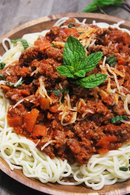 spaghetti marinara| marmite et ponpon