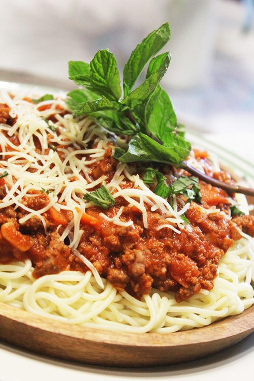 spaghetti marinara|marmite et ponpon