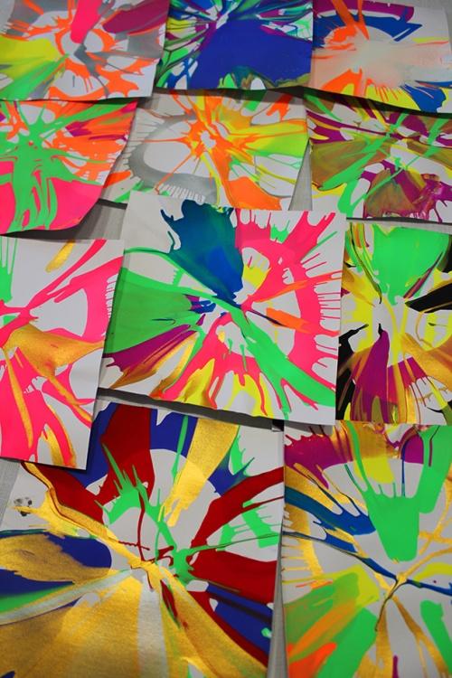 spin art celebrating spring | marmite et ponpon