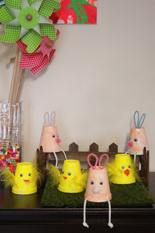 the Easter bunnies&chicks cups|marmite et ponpon