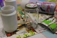 1-Magazine flowers & food jar vase - recycling craft marmite et ponpon