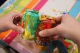 10-Magazine flowers & food jar vase - recycling craft|marmite et ponpon