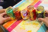 11-Magazine flowers & food jar vase - recycling craft|marmite et ponpon