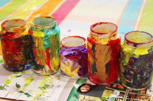 12-Magazine flowers & food jar vase - recycling craft|marmite et ponpon