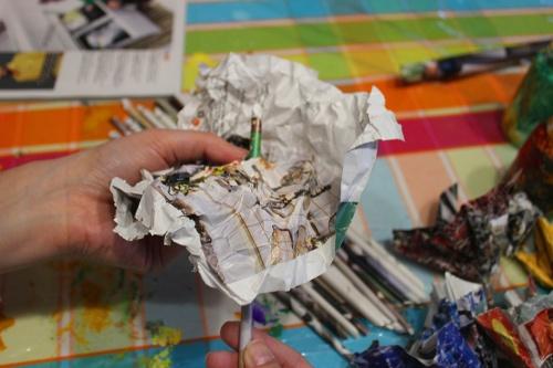 16-Magazine flowers & food jar vase - recycling craft|marmite et ponpon