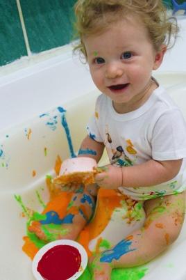 3-finger paint - sensory play|marmite et ponpon