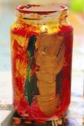 4-Magazine flowers & food jar vase - recycling craft|marmite et ponpon