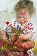 5-finger paint - sensory play|marmite et ponpon