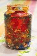6-Magazine flowers & food jar vase - recycling craft|marmite et ponpon