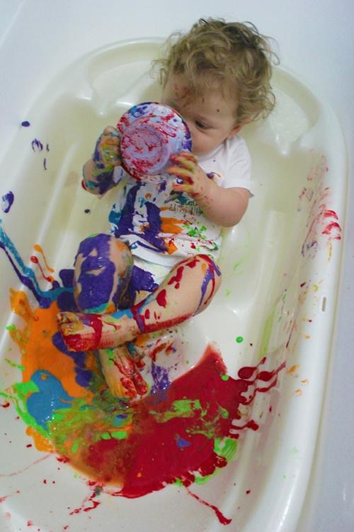 finger paint -sensory play|marmite et ponpon