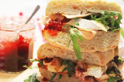 turkey and brie cranwich |marmite et ponpon
