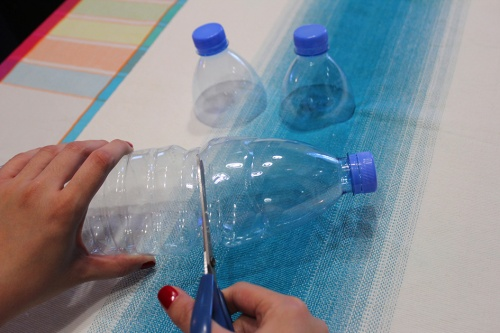 1-plastic bottle candle holder recycling craft|marmite et ponpon