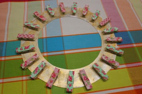 2- clothpins wall frame DIY|marmite et ponpon