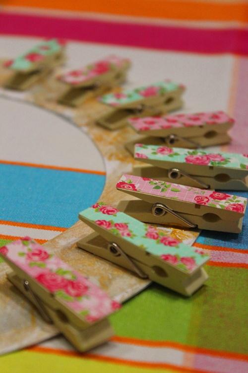 3- clothpins wall frame DIY|marmite et ponpon