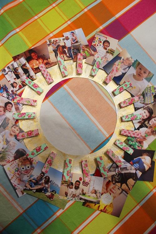 4- clothpins wall frame DIY|marmite et ponpon