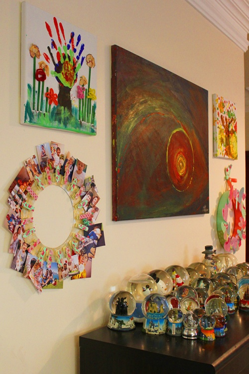 clothpins wall frame DIY| marmite et ponpon