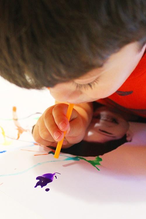 fun straw art | marmite et ponpon