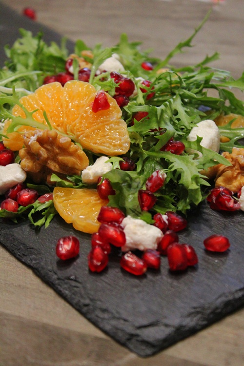 pomegranate and mandarin feta salad |marmite et ponpon