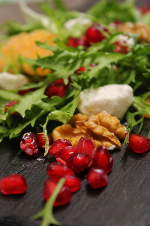 pomegranate and mandarin feta salad|marmite et ponpon