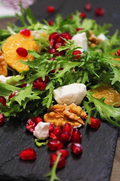 pomegranate & mandarin feta salad |marmite et ponpon