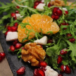 pomegranate & mandarin feta salad|marmite et ponpon