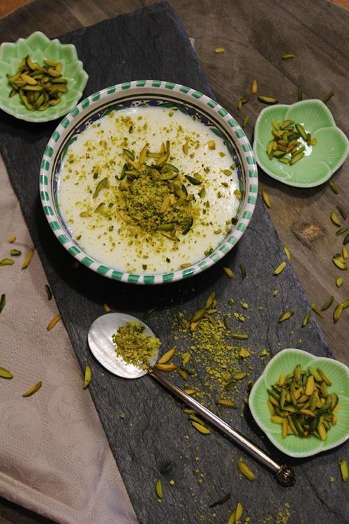 achtalyeh - lebanese cream pudding | marmite et ponpon