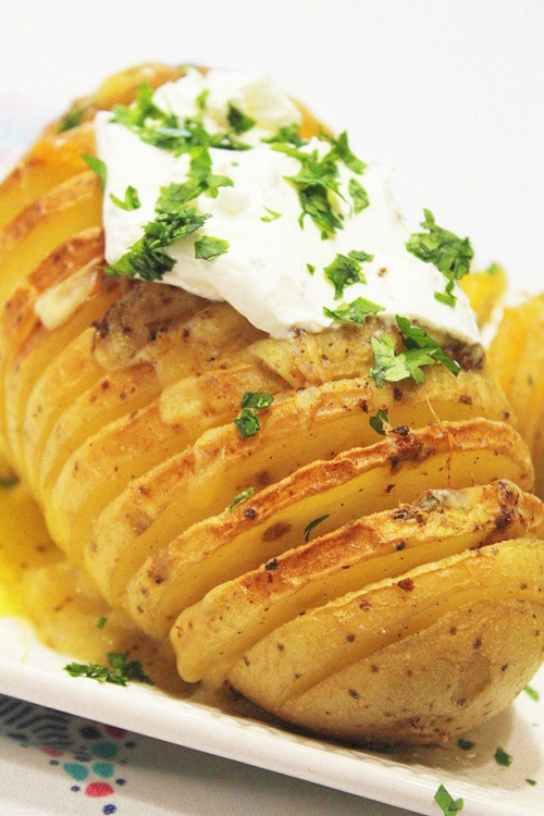 hasselback potatoes | marmite et ponpon