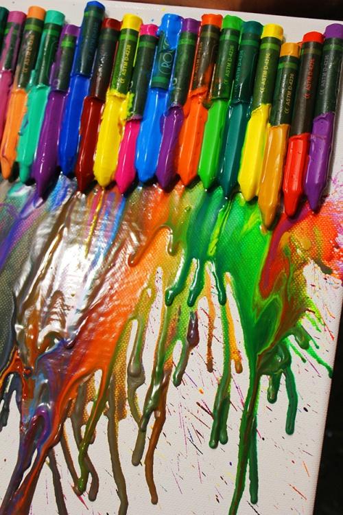 melting crayon art |marmite et ponpon