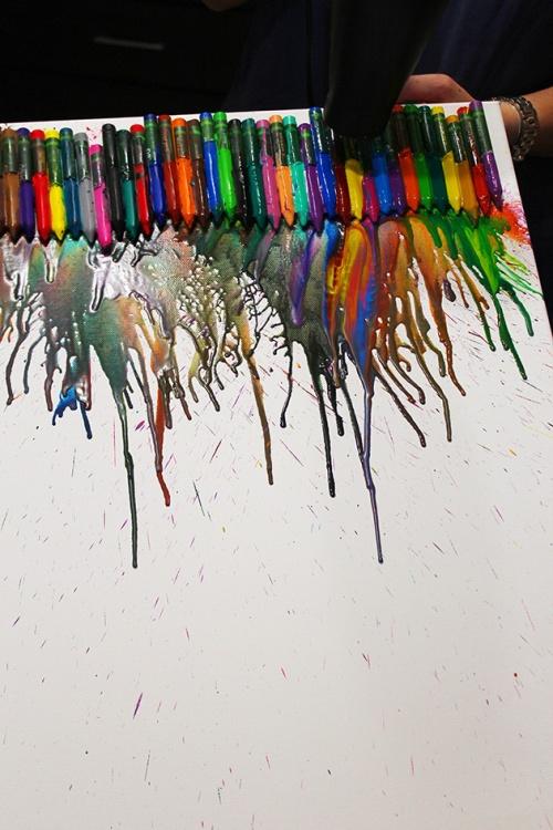 melting crayon art|marmite et ponpon
