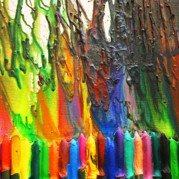 melting crayons art |marmite et ponpon
