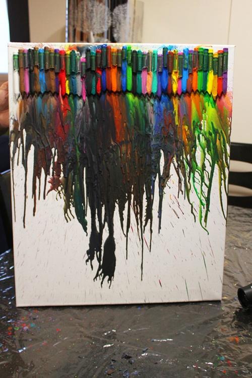 melting crayons art project |marmite et ponpon