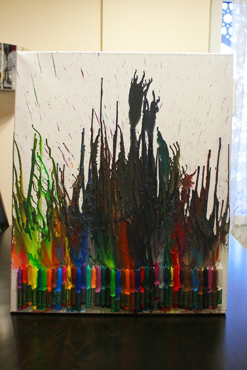 melting crayons art project | marmite et ponpon
