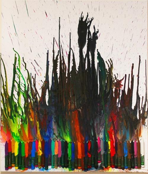 melting crayons art project|marmite et ponpon