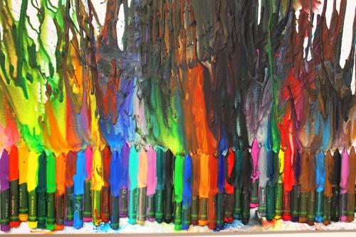 melting crayons art|marmite et ponpon
