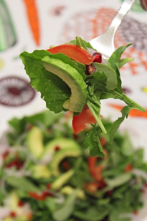 purslane, avocado & rocket salad| marmite et ponpon
