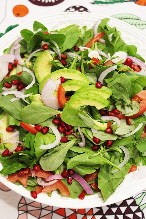 purslane, avocado & rocket salad|marmite et ponpon
