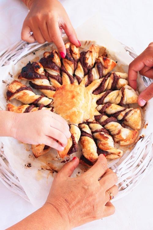 le Soleil nutella puff pastry |marmite et ponpon