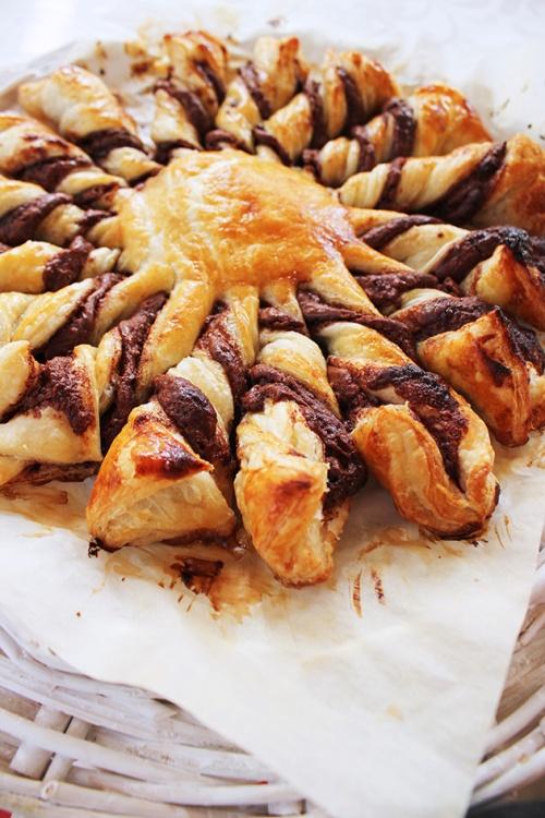 le Soleil nutella puff pastry| marmite et ponpon