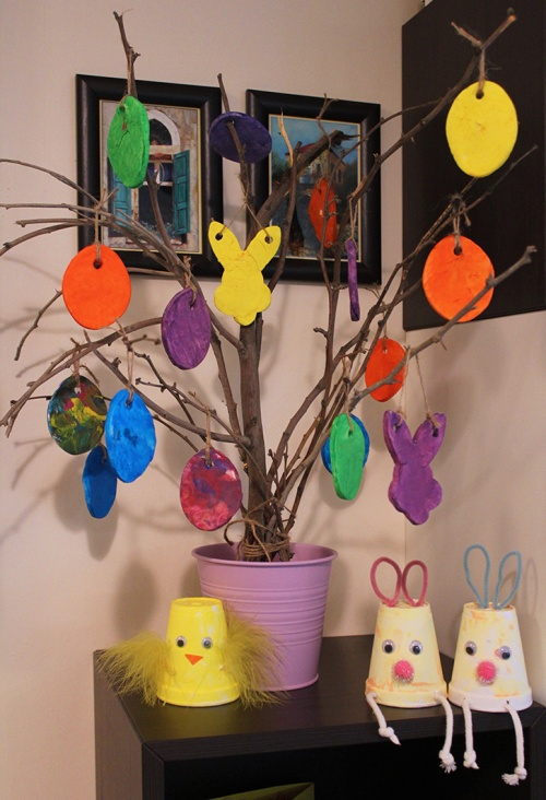 easter tree decoration |marmite et ponpon