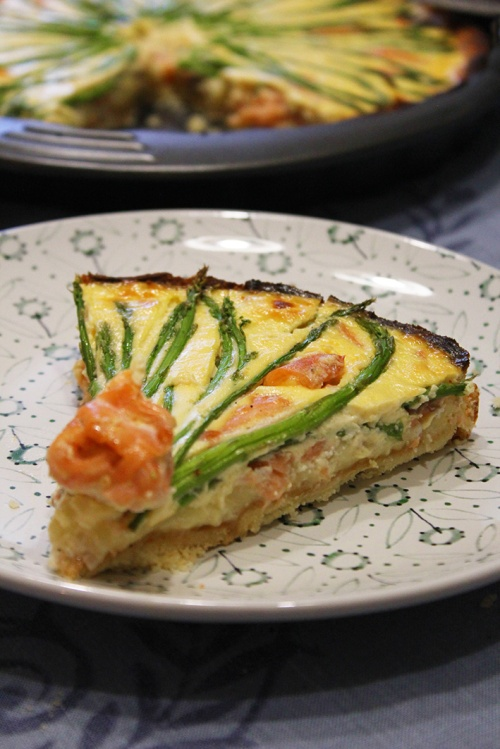 smoked salmon and asparagus quiche | marmite et ponpon