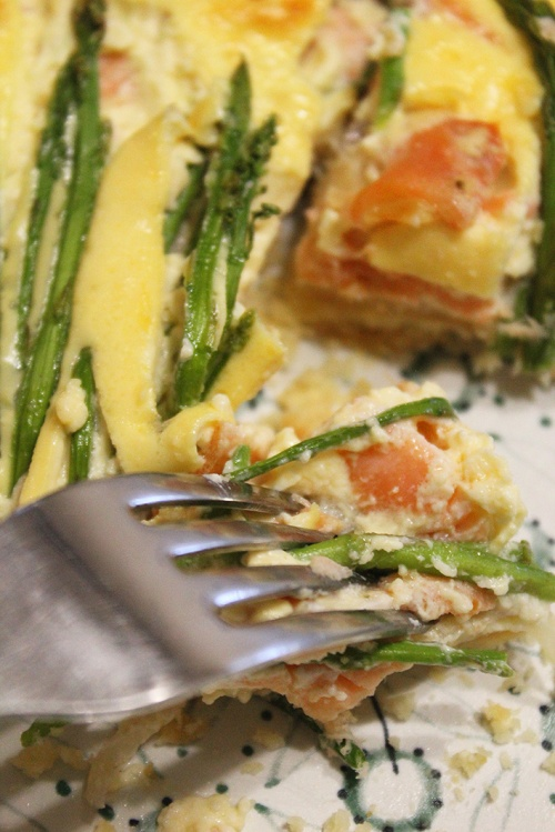 smoked salmon and asparagus quiche |marmite et ponpon