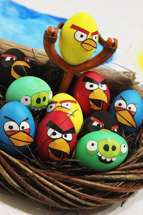 3-angry birds easter eggs |marmite et ponpon