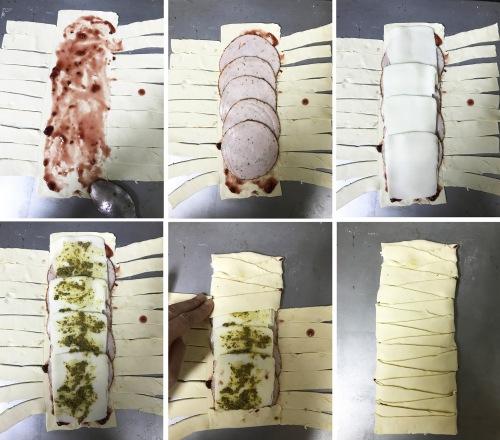 how to do turkey and mozzarella braid