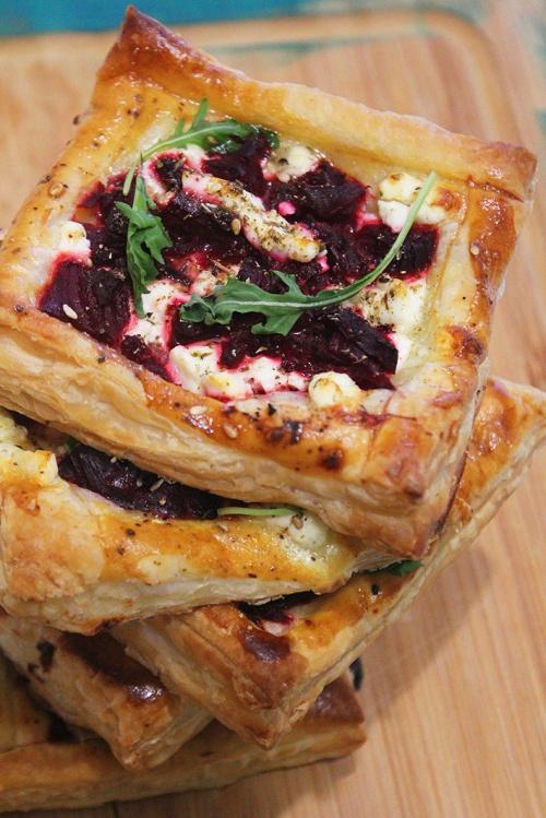 beetroot and feta tart |marmite et ponpon