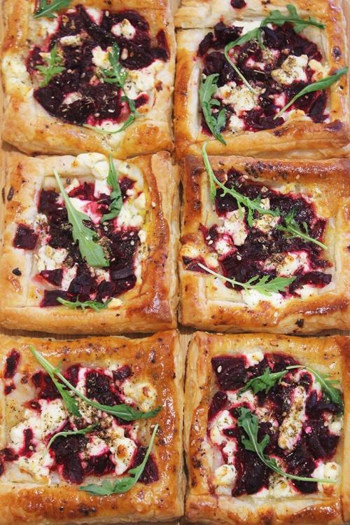 beetroot feta tart |marmite et ponpon