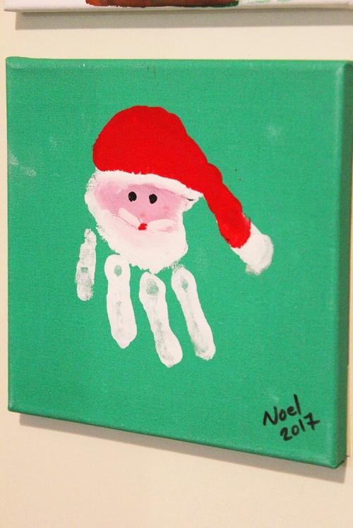 2-handprint and footprint for christmas keepsakes |marmite et ponpon