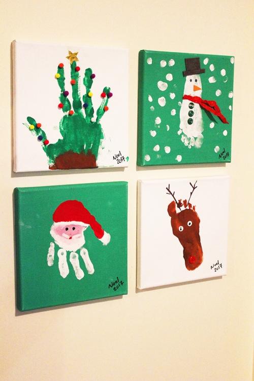handprint and footprint for christmas keepsakes |marmite et ponpon