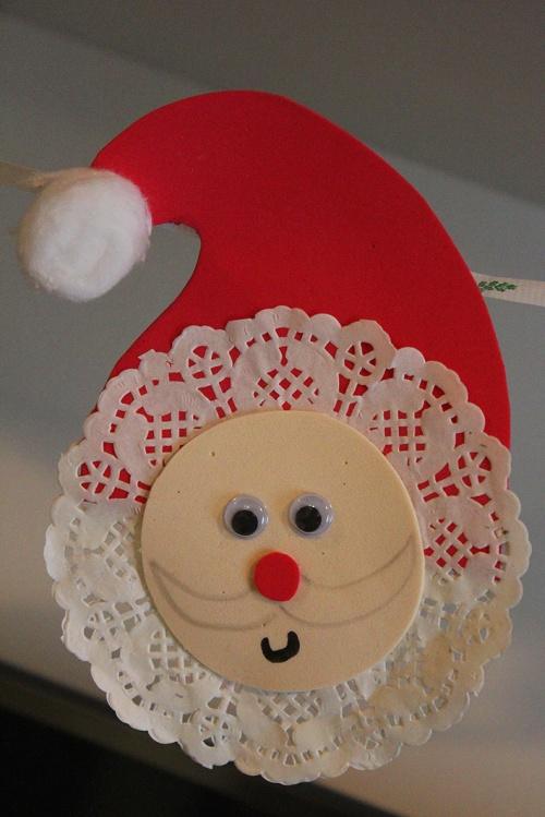 lace doily santa |marmite et ponpon