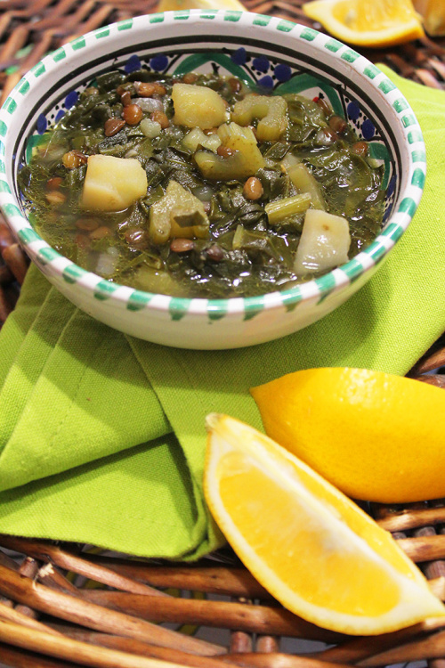 adas bhamoud (chard and lentil soup)